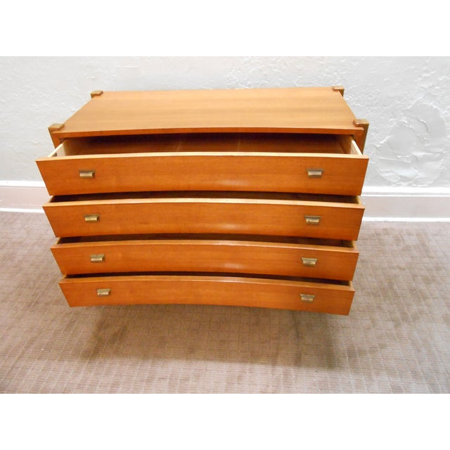 Williamsport Mid Century Reverse Bow Commode Chest - Image 2 of 10