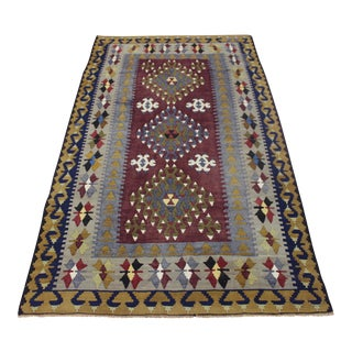"Handmade Turkish Kilim Rug - 3'4"" X 5'10"""