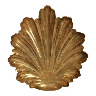 Vintage Brass Acanthus Leaf Footed Dish