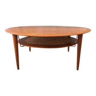 Hvidt & Mølgaard-Nielsen for France & Søn Teak and Rattan Coffee Table