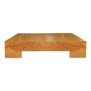 Milo Baughman Burlwood Coffee Table