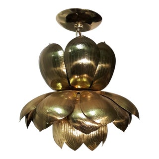 Feldman Lighting Co. Brass Lotus Pendant