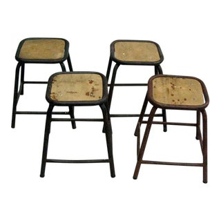 Four French Stools or Benches in the Manner of Jean Prouve