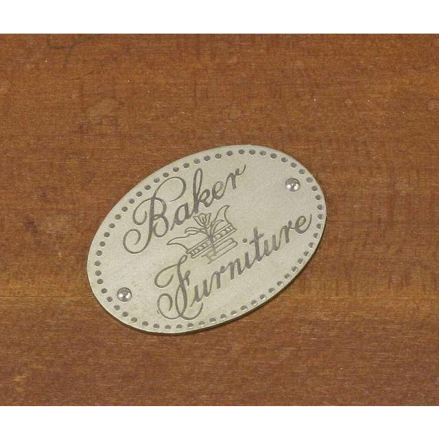 Baker Art Nouveau Style Burled Walnut Nesting Tables - Image 10 of 10