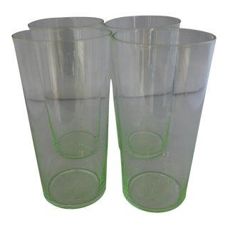 Thomas O'Brien Lime Green Highball Glasses - Set of 4