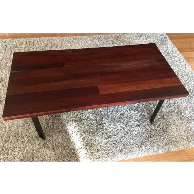 West elm natural wood coffee table chairish for West elm coffee table sale