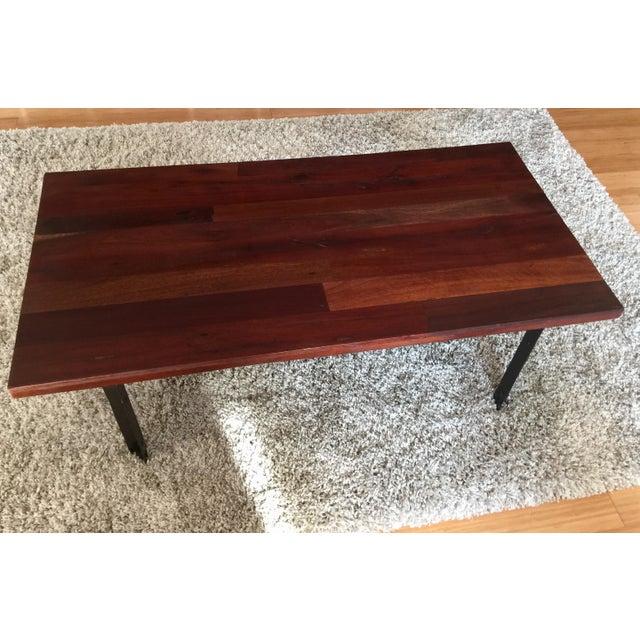 West elm natural wood coffee table chairish - Organic wood coffee table ...
