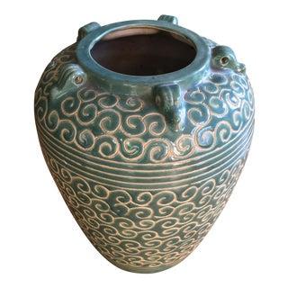 Vintage Green Handmade Vase