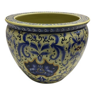 Chinese Fish Bowl Motif Planter