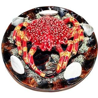 Majolica Crab Plate