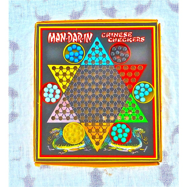Vintage Man-Da-Rin Chinese Checkers Game, Complete - Image 2 of 7