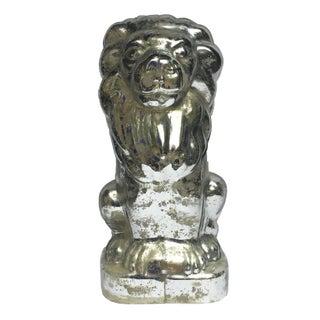 Decorative Mercury Glass Lion