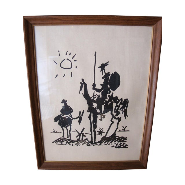 1960s Lambert Studios Picasso Print on Fabric - Image 1 of 5