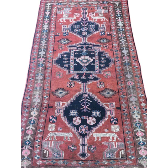 "Vintage Persian Rug 4'8""x 8'2"" - Image 1 of 7"