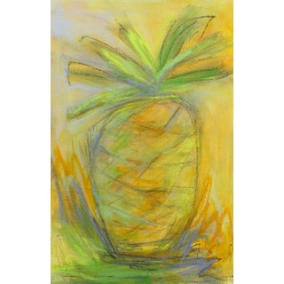 """Little Pineapple"" Small Abstract Painting by Trixie Pitts"