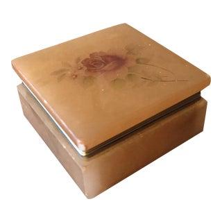 Onyx Floral Trinket Box