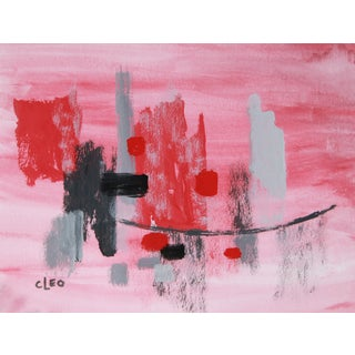 """Powder Room 1"" Abstract Painting by Cleo"