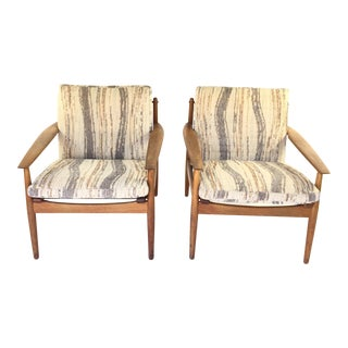 Arne Vodder Danish Teak Armchairs - A Pair