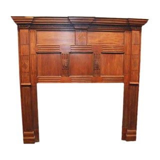 Antique Danny Alessandro Wooden Mantel
