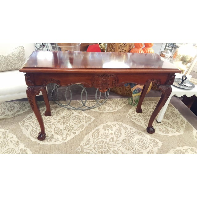 Cherry Wood Console Table - Image 2 of 7