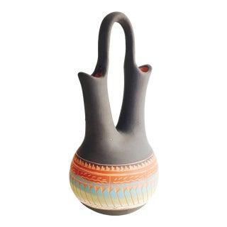 Vintage Navajo Pottery Wedding Vase