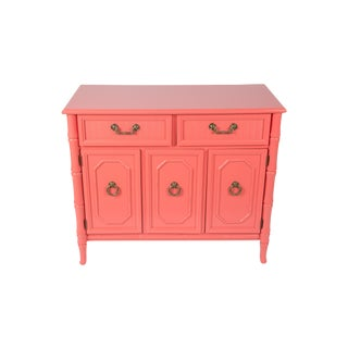 Coral Faux-Bamboo Broyhill Buffet