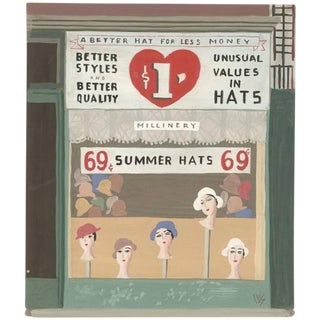 Witold Gordon Gouache, Summer Hats, Vanity Fair