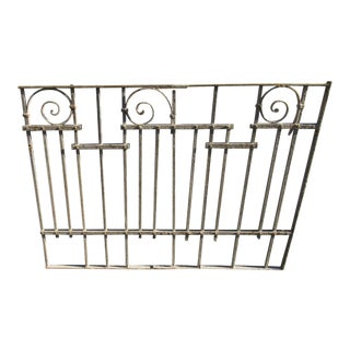 Antique Victorian Iron Gate Window Garden Fence Architectural Salvage Door #025