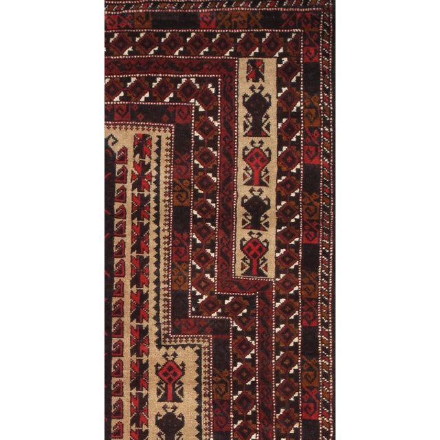 """Pasargad Balouch Collection Red Rug - 3'1"""" X 4'11"""" - Image 2 of 2"""
