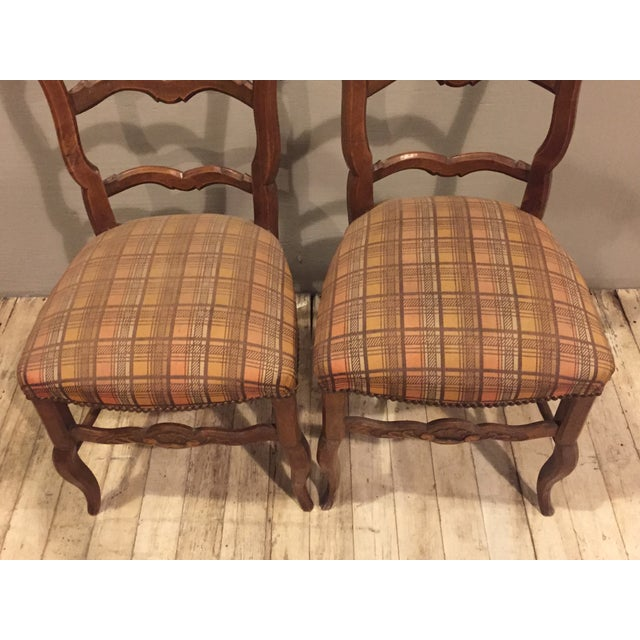 Antique 1900's French Country Side Chairs - Pair - Image 3 of 8