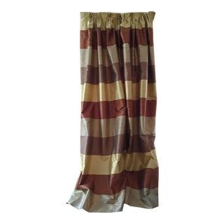 2 Silk Plaid Custom Curtain Panels