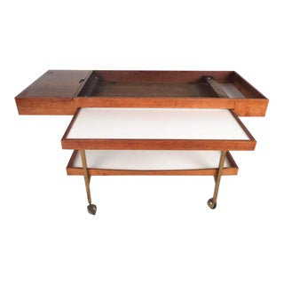 Mid-Century Modern Walnut Serving Cart