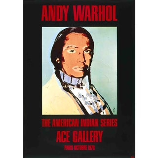1976 American Indian Black Poster by Andy Warhol