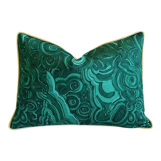"25"" X 16"" Custom Tailored Jim Thompson Malachite Green Feather/Down Pillow"