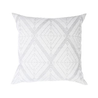 Large Gray Diamond Handwoven Pillow