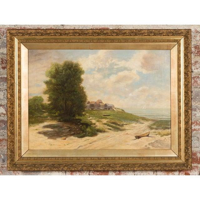 19th-Century Sea Shore Landscape - Image 2 of 10