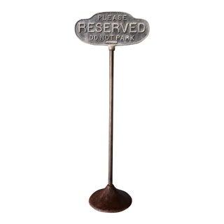 Vintage Cast Iron Curb Sign