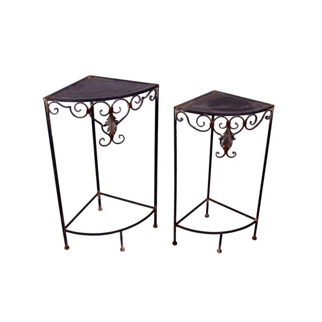 Vintage Metal Side Tables - Set of 2 - Image 1 of 3