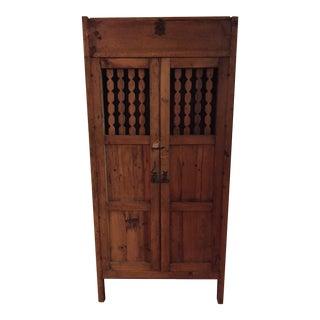 Vintage Boho Chic Hardwood Armoire