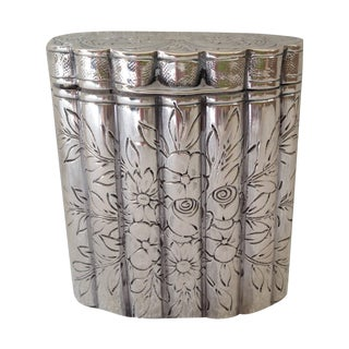 Vintage Italian Silver Scrolled Cigarette Case