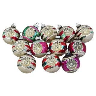 1960s Mid-Century Retro Christmas Ornaments w/Box - Set of 12
