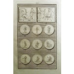 Image of 1755 Engraving Roman Medallions