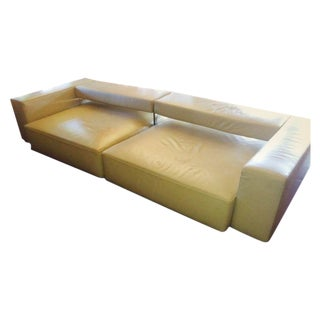 B&B Italia Andy Cream Leather Sofa