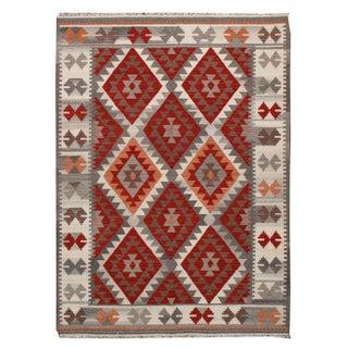 Apadana - Red & Gray, 6 x 8 Multicolor Kilim Rug