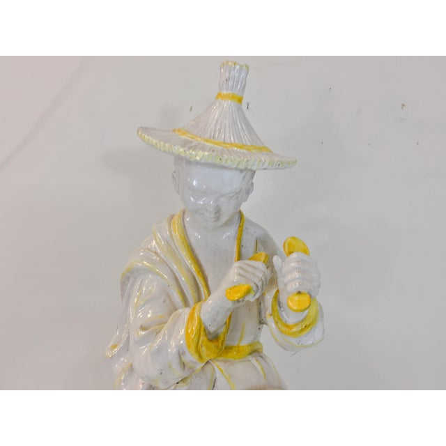 Palm Beach Style Chinoiserie Statue - Image 6 of 7