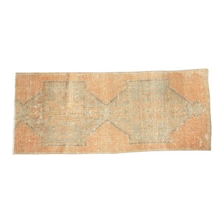 "Vintage Distressed Oushak Rug Runner Fragment - 3'1"" x 7'6"""