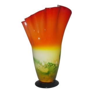 Fazzoletto Hand Blown Vase