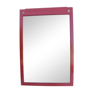 Mid-Century Red Lacquer Color Mirror