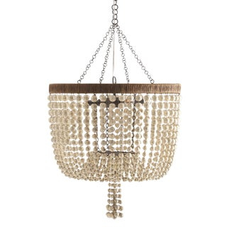 Beaded 4-Light Chandelier