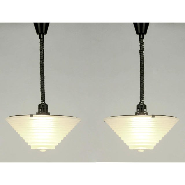 "Image of Pair of Angelo Mangiarotti ""Egina"" Pendants for Artemide S.p.A, Italy"